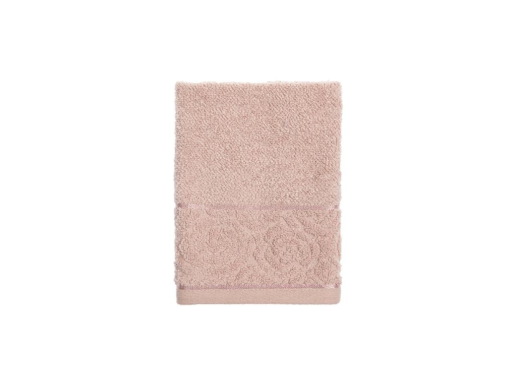 Rosa Stripe Jakarlı El Havlusu 30x40 Cm Nude