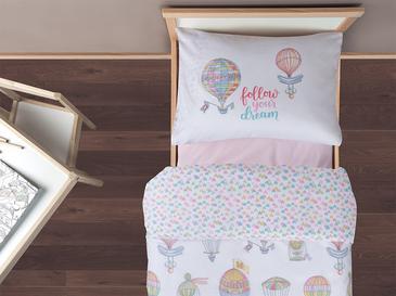 Lovely Balloon Pamuklu Set Çocuk Nevresim Takımı 160x220 Cm Pembe