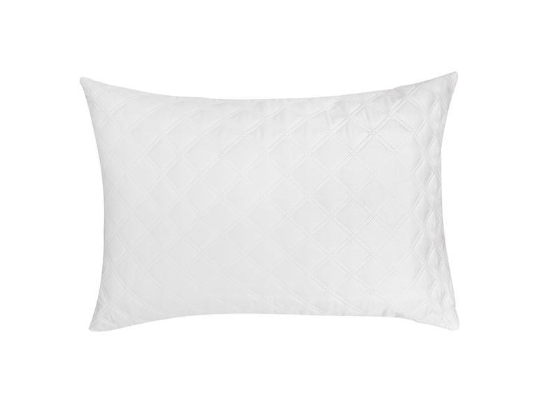 Star Kapitoneli Yastık Koruyucu 50x70 Cm Beyaz
