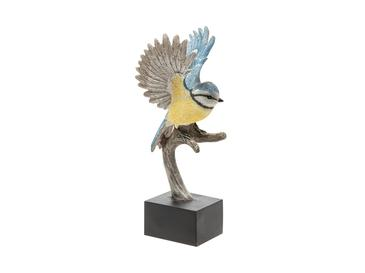 Letter Of Bird Polyresin Dekoratif Obje 12,3x7,1x19,5 Cm Sarı - Mavi