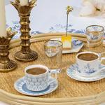 Tual New Bone 2'li Kahve Fincan Takımı 80 Ml Mavi