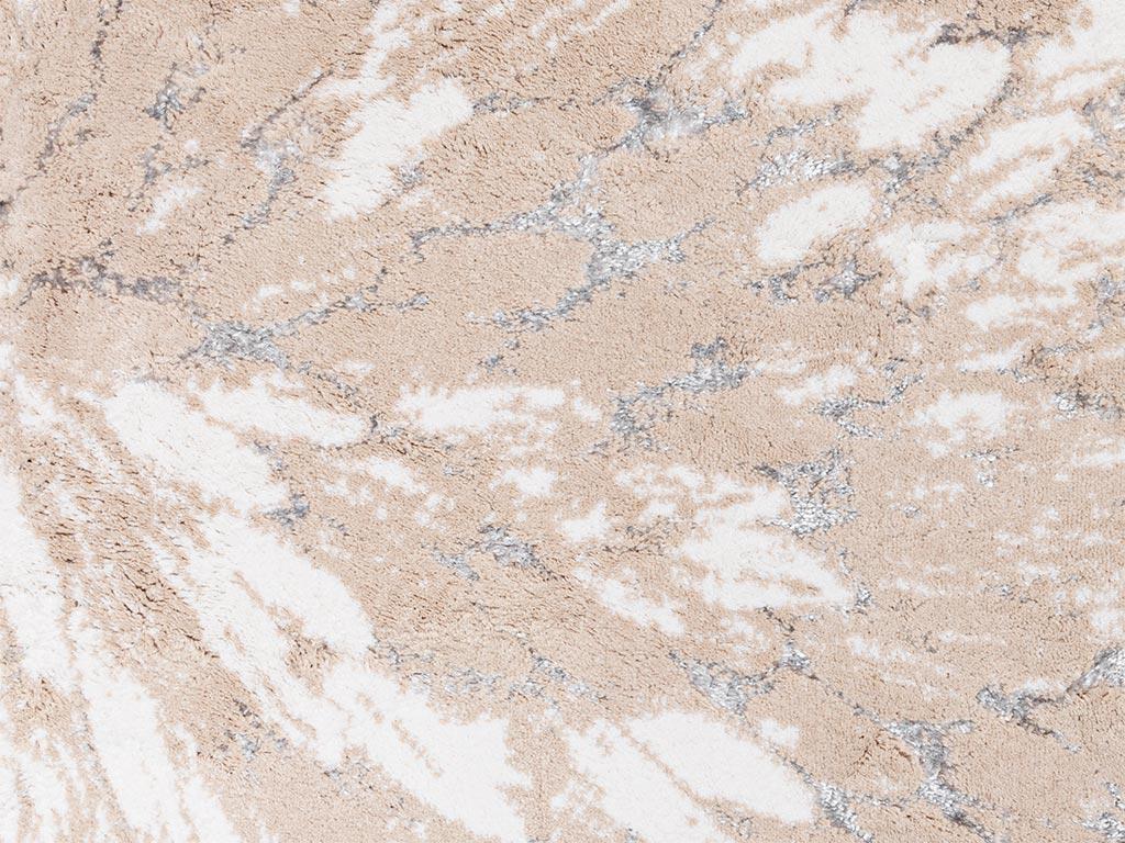 Pure Fleur Banyo Paspası Seti 60x90-40x60 Cm Bej - Gri - Krem
