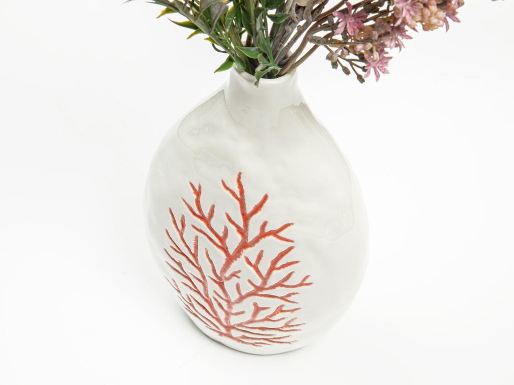 Ocean Art Porselen Vazo 14,3x9,2x26,8 Cm Turuncu