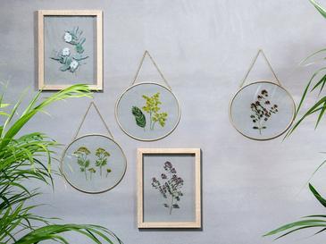 Bellflower Glass/mdf Tablo 20x2x25 Cm Beyaz - Yeşil