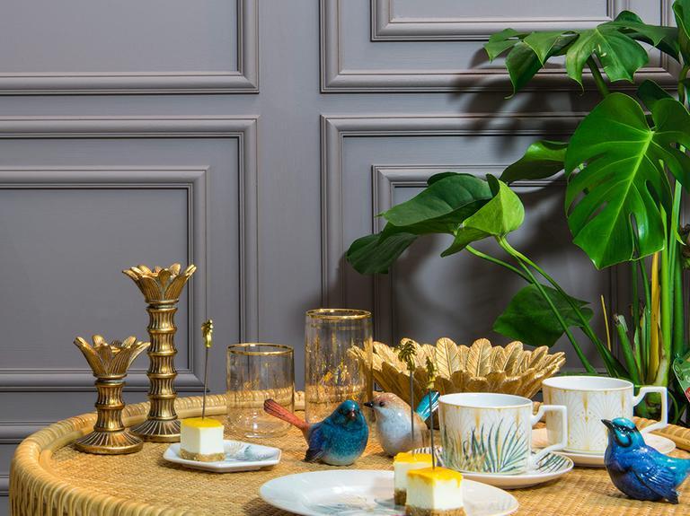 Paradise Garden Polyresin Şamdan 7,5x7,5x17,5 Cm Gold