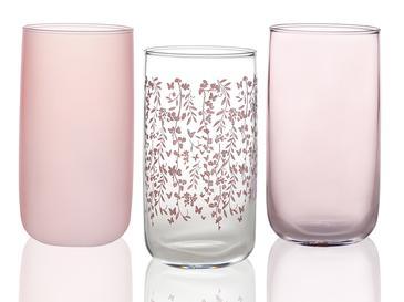 Sarmasik Cam 3'lü Meşrubat Bardağı 365 Ml Şeffaf