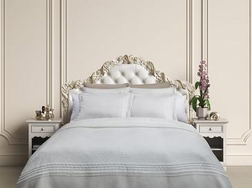 Glory Jakarlı Çift Kişilik Yatak Örtüsü Takımı 250x260 Cm Beyaz