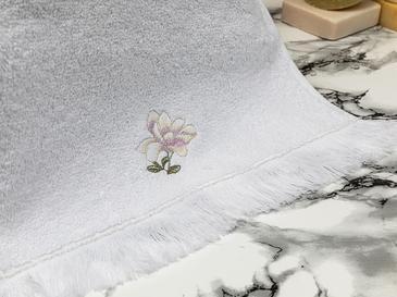 Magnolia Nakışlı El Havlusu 30x45 Cm Beyaz-lila