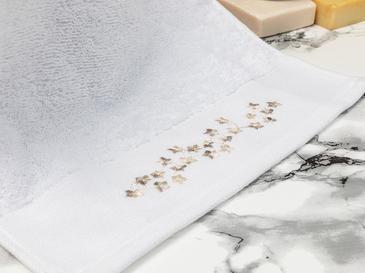 Romance Bordürlü El Havlusu 30X45 Cm Beyaz - Bej