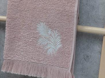 Palm Trees Nakışlı Yüz Havlusu 50X80 Cm Nude
