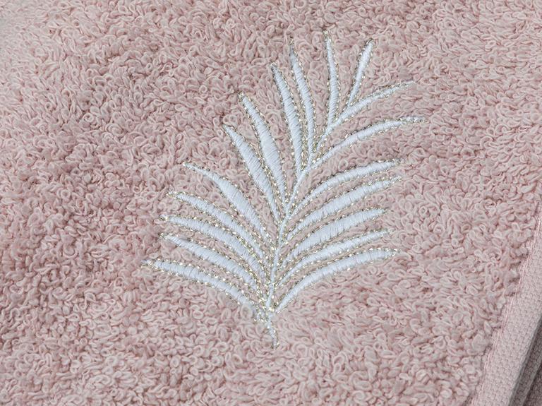 Palm Trees Nakışlı El Havlusu 30X45 Cm Nude