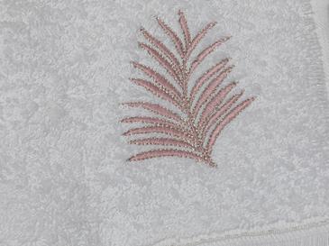 Palm Trees Nakışlı El Havlusu 30X45 Cm Beyaz