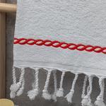 Rope Nakışlı Yüz Havlusu 50X80 Cm Mercan