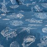 Deep Sea Pamuklu Çift Kişilik Nevresim Seti 200X220 Cm Mavi