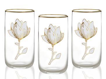 Magnolia Cam 3'lü Meşrubat Bardağı 365 Ml Şeffaf