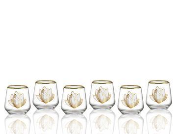 Magnolia Cam 6'lı Kahve Yanı Su Bardağı 115 Ml Şeffaf