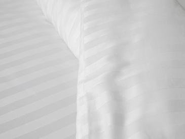 Glamour Çizgili Pamuk Saten Super King Nevresim Takımı 260x220 Cm Beyaz