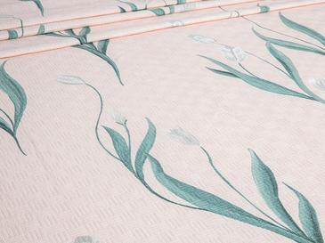 Tulip Garden Baskılı Çift Kişilik Pike 200x220 Cm Pembe