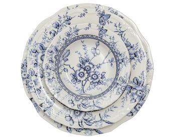 Roseanne Porselen 24 Parça Yemek Takımı 17cm-24cm-26cm-20cm Mavi