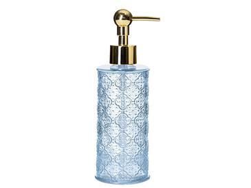 Blue Nature Cam Banyo Sıvı Sabunluk 6,5x6,5x20 Cm Mavi