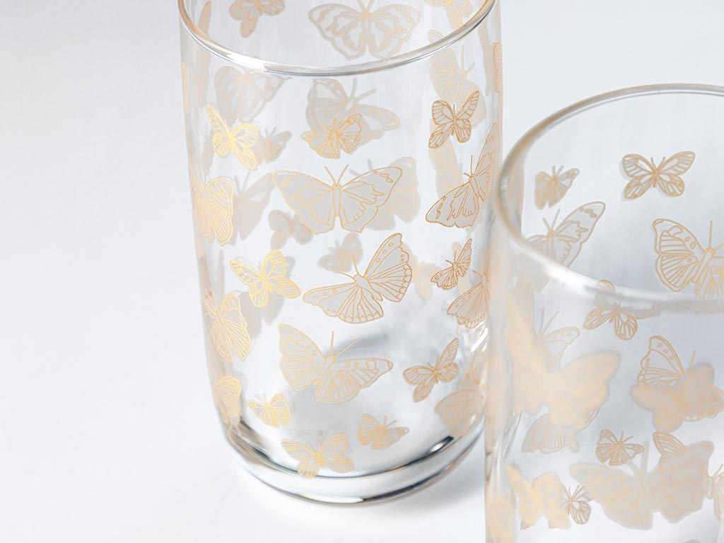 Butterfly Cam 3'lü Meşrubat Bardağı 365 Ml Şeffaf