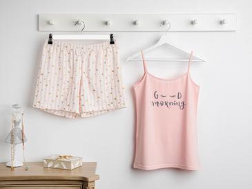 Pure Love Full Lyc Süprem- Pamuk Elastan Şort Pijama Takımı S-m Pembe