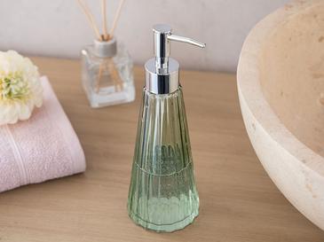 Leaf Scar Cam Banyo Sıvı Sabunluk 8x8x22,5 Cm Açık Yeşil