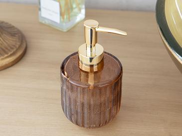 Felicia Cam Banyo Sıvı Sabunluk 8x8x15 Cm Amber