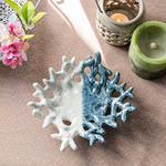 Marine Life Porselen Dekoratıf Tabak 16,5X15,7X4,6 Cm Mavi-Beyaz