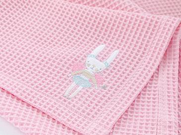 Magic Rabbit Aplikeli Bebe Pike 80x110 Cm Pembe