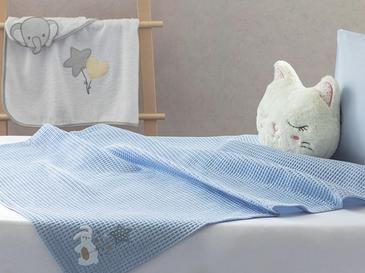 Sleepy Rabbit Aplikeli Bebe Pike 80x110 Cm Mavi