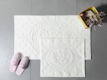 Alya Pamuklu Banyo Paspası Seti 60x100 - 50x60 Cm Krem
