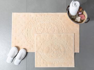 Alya Pamuklu Banyo Paspası Seti 60x100 - 50x60 Cm Bej