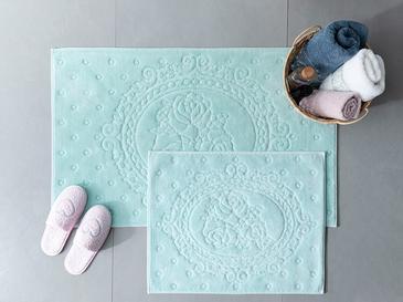 Alya Pamuklu Banyo Paspası Seti 60x100 - 50x60 Cm Mint
