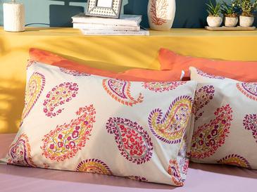 Flower Paisley Pamuklu 2'li Yastık Kılıfı 50x70 Cm Bej
