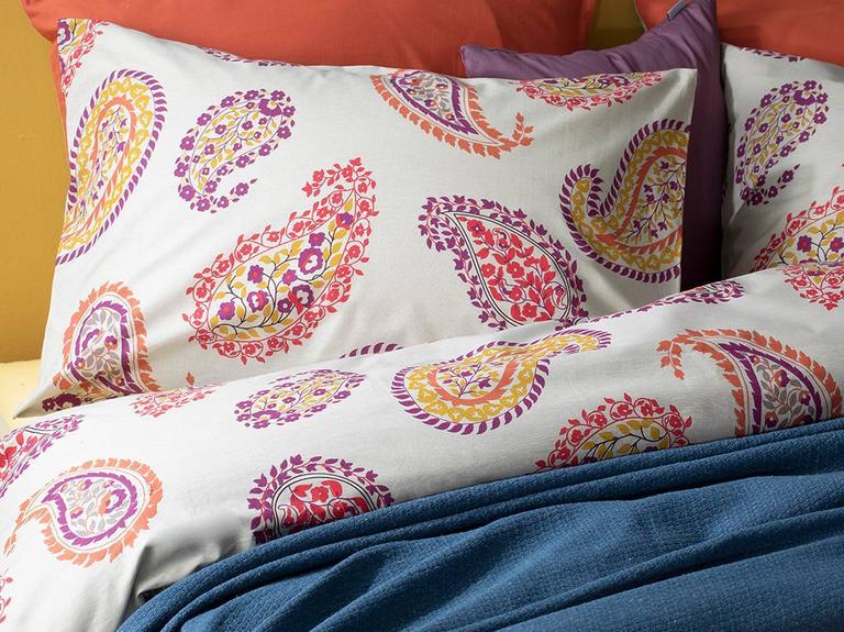 Flower Paisley Pamuklu Tek Kişilik Nevresim Seti 160X220 Cm Bej
