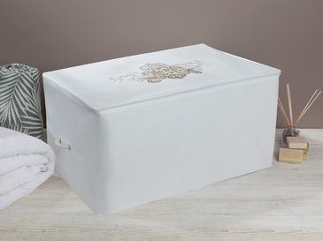 Lace Damask Hurç 74x46x46 Cm Beyaz