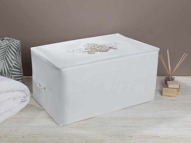 Lace Damask Hurç 64X41X35 Cm Beyaz