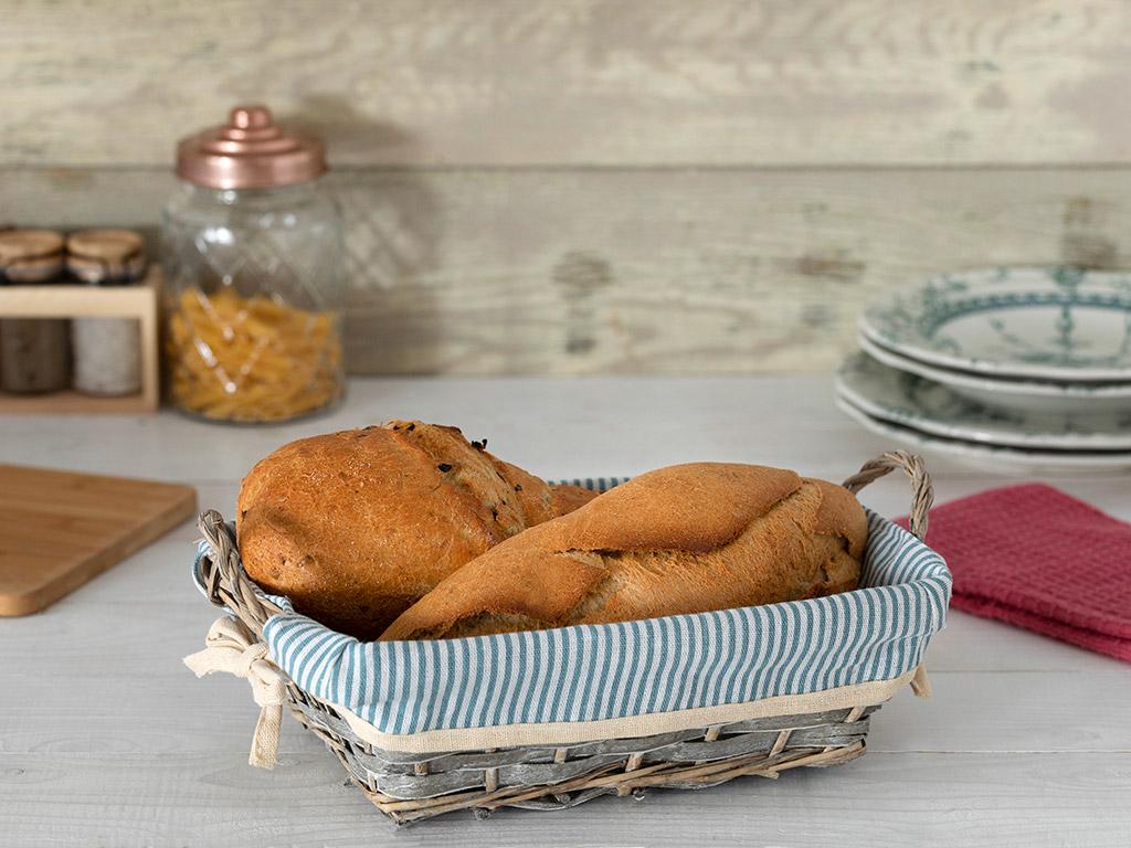 Fiesta Hasır Dikdörtgen Ekmek Sepeti 28x20x9 Cm Bej