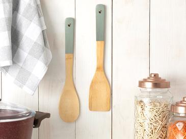 Pure Folk Bambu 2'li Servis Seti 30x6x0,8 Cm Yeşil