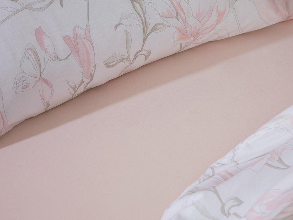 Magnolia Dream Pamuk Çift Kişilik Nevresim Takımı 200x220 Cm Açık Pembe