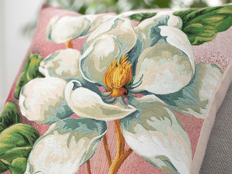 Arty Magnolia Goblen Kırlent Kılıfı 45X45 Cm Pembe