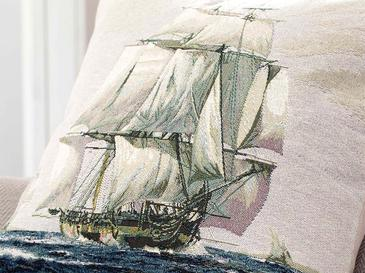 Sailer Goblen Kırlent 45X45 Cm Mavi