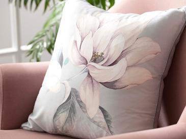 Classy Magnolia Kırlent Kılıfı 45x45 Cm Pembe
