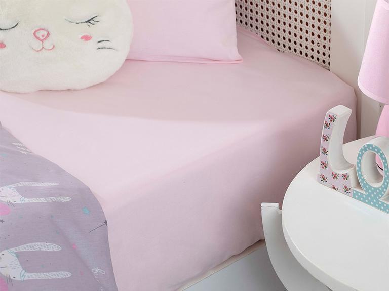 Soft Pamuklu Bebe Lastikli Çarşaf 70x140 Cm Pembe
