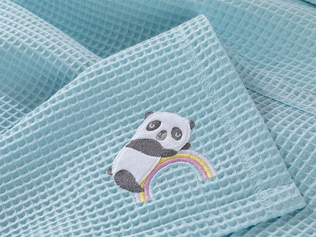 Little Panda Aplikeli Bebe Pike 80x110 Cm Seledon