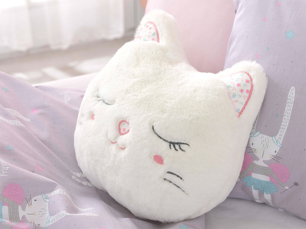 Vera Polyester Dekoratif Yastık 30x28 Beyaz