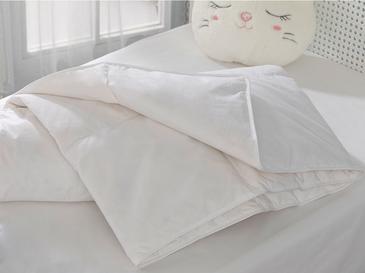 Soft Kaz Tüyü Bebe Yorgan 95x145 Cm Beyaz