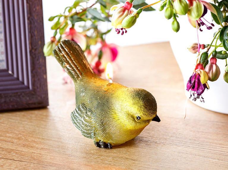 Love Bird Parafin Mum 10X6X8,5 Cm Yeşil
