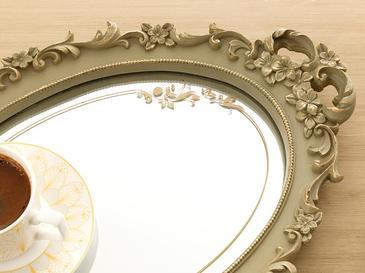 Nilda Aynalı Tepsi 25x38 Cm Yeşil